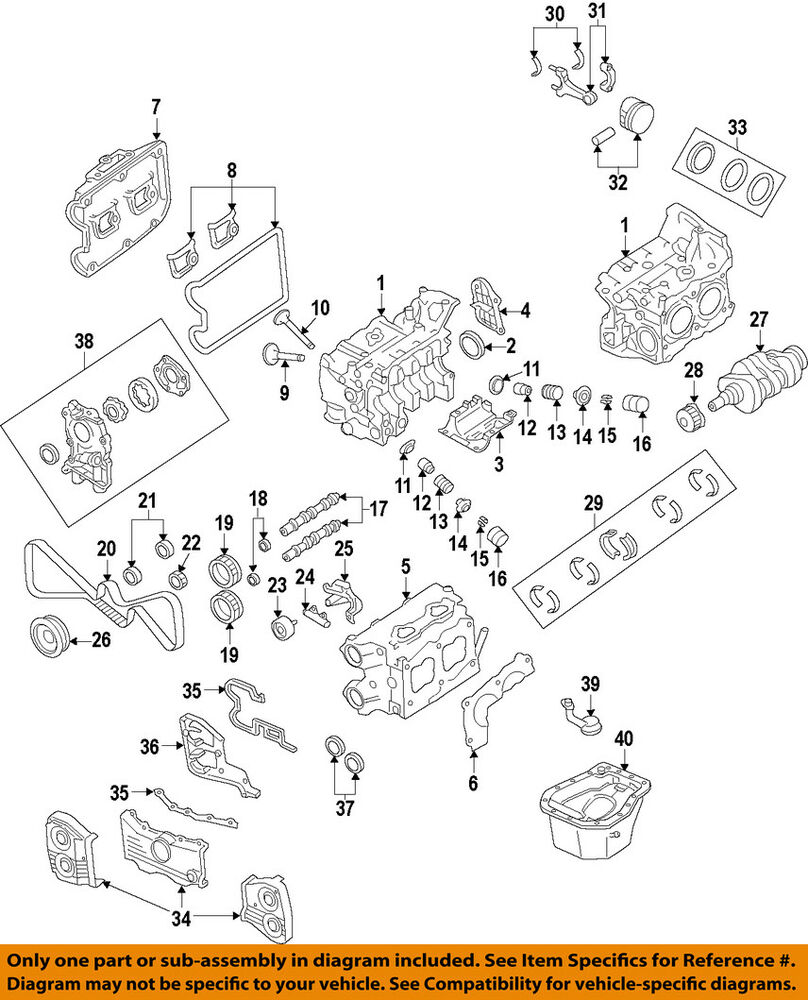subaru ej25 engine diagram subaru oem 08-14 impreza-engine timing camshaft cam gear 13323aa001 | ebay #1