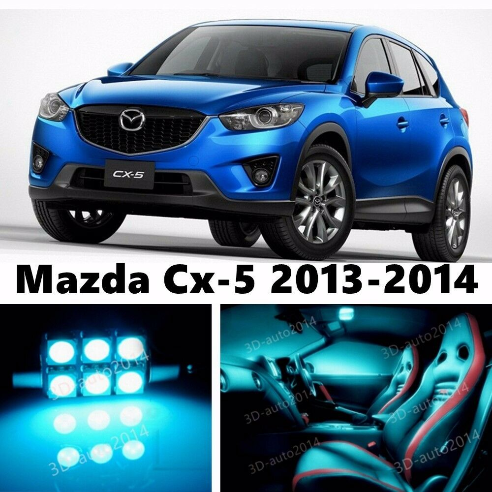 12pcs led ice blue light interior package kit for mazda cx 5 2013 2014 ebay. Black Bedroom Furniture Sets. Home Design Ideas