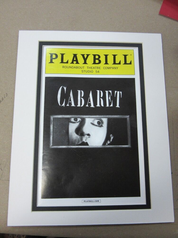 Picture Framing Mat for Playbill fits standard 8x10 picture mat ...