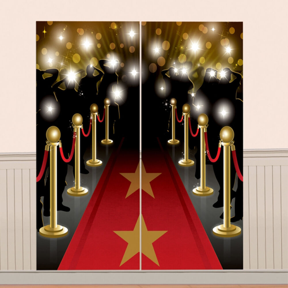 Hollywood party decorations scene setters movies oscars red carpet photo prop ebay for Decoration party