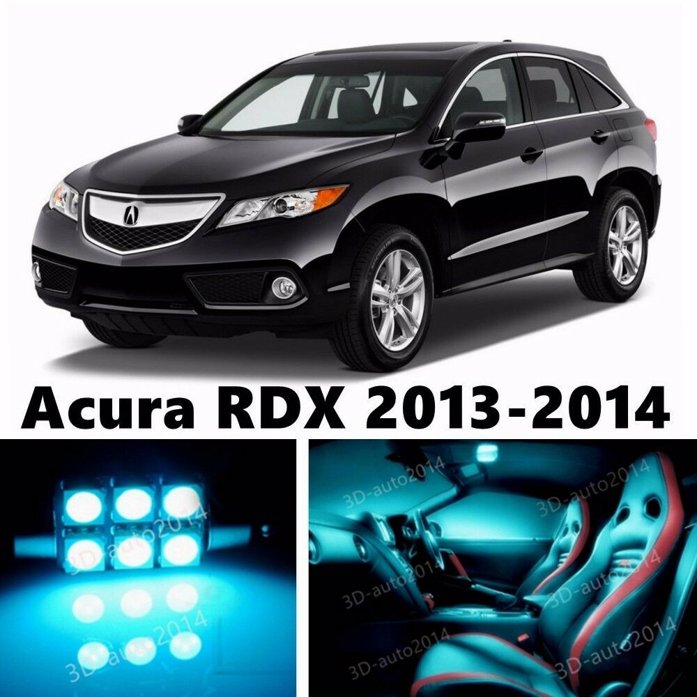 12pcs LED ICE Blue Light Interior Package Kit For Acura