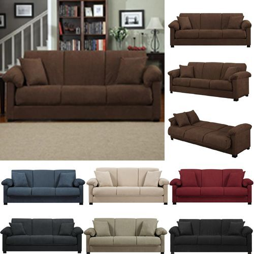 Polar Fleece Slipcover Sofa Solid Color Couch Cover