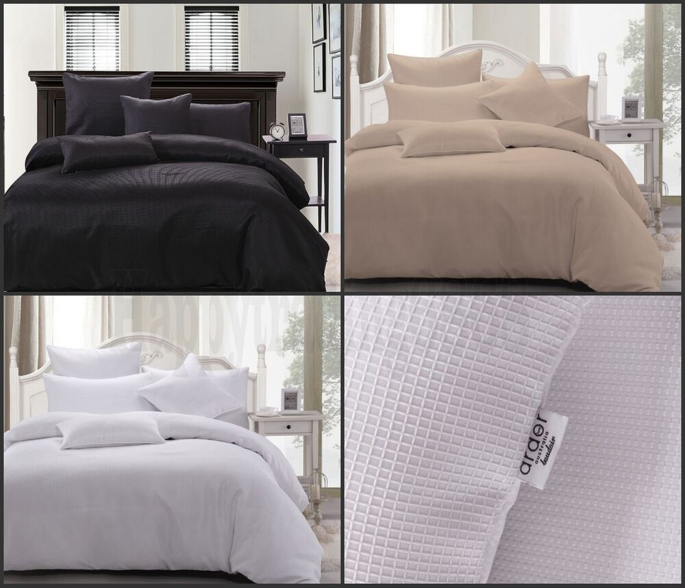 Waffle Weave King Queen Double Single Quilt Doona Cover
