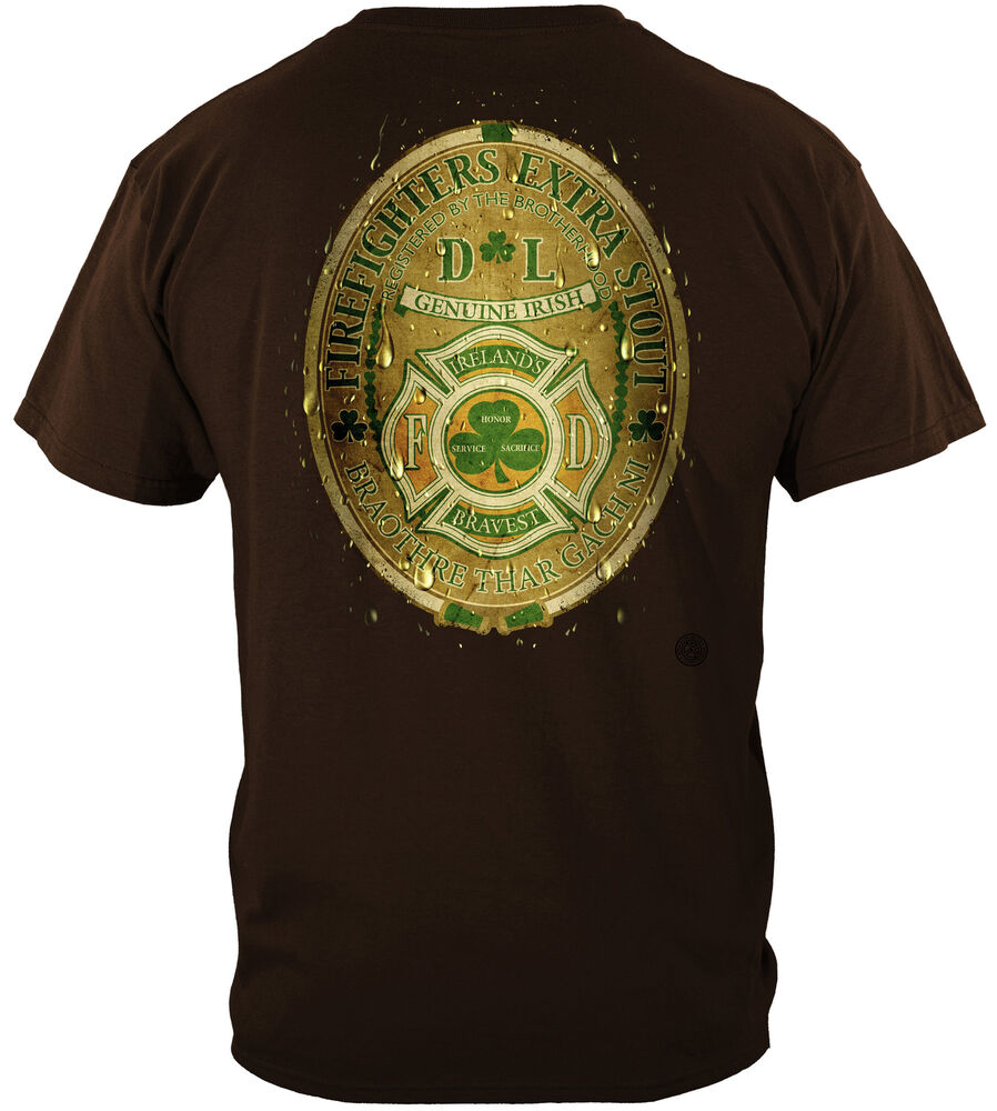 Erazor bits t shirt fire fighter ireland 39 s bravest for On fire brand t shirts