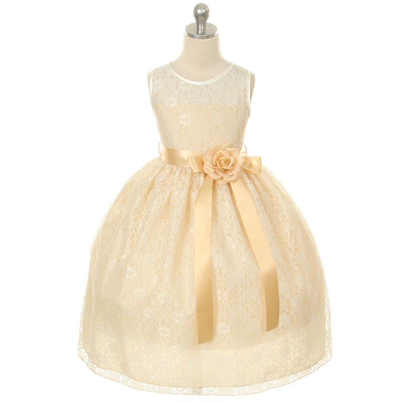 Yellow flower girl dresses ebay