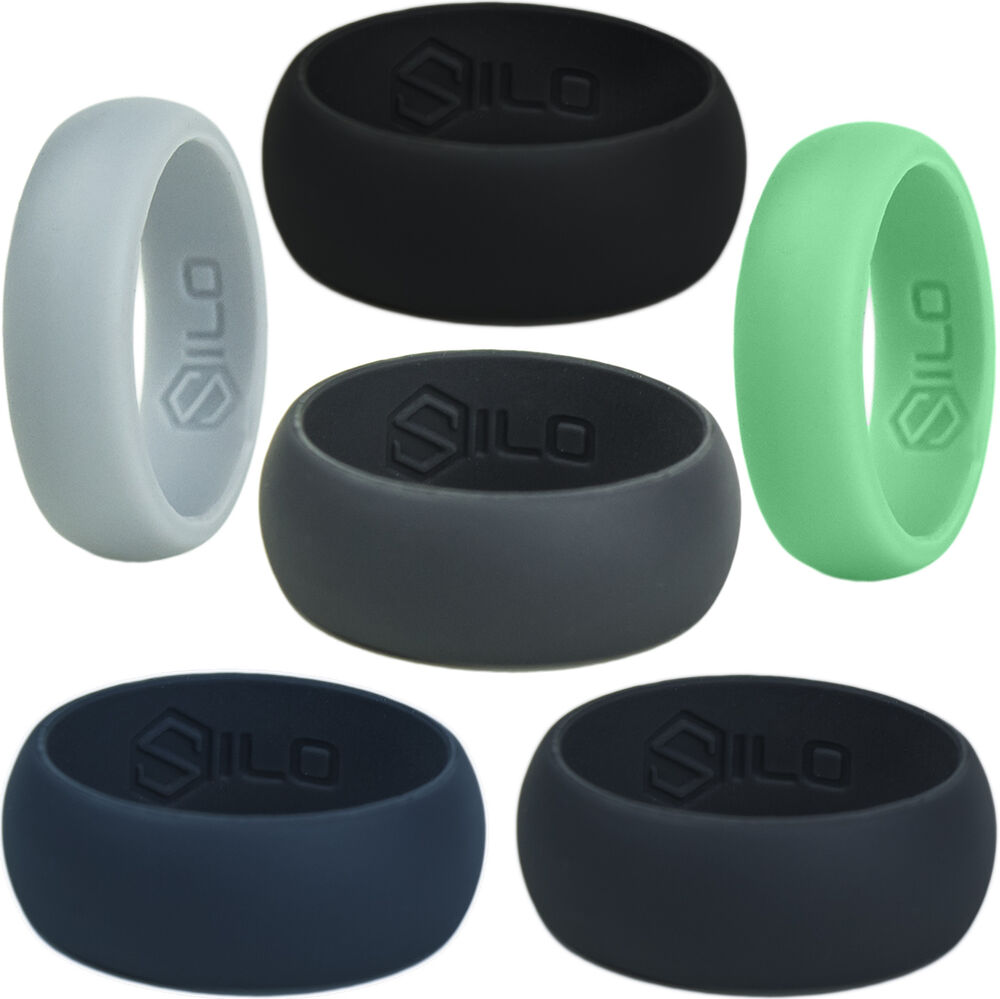 SILO Wedding Ring 6 COLORS Any 2 Set Men Women Silicone