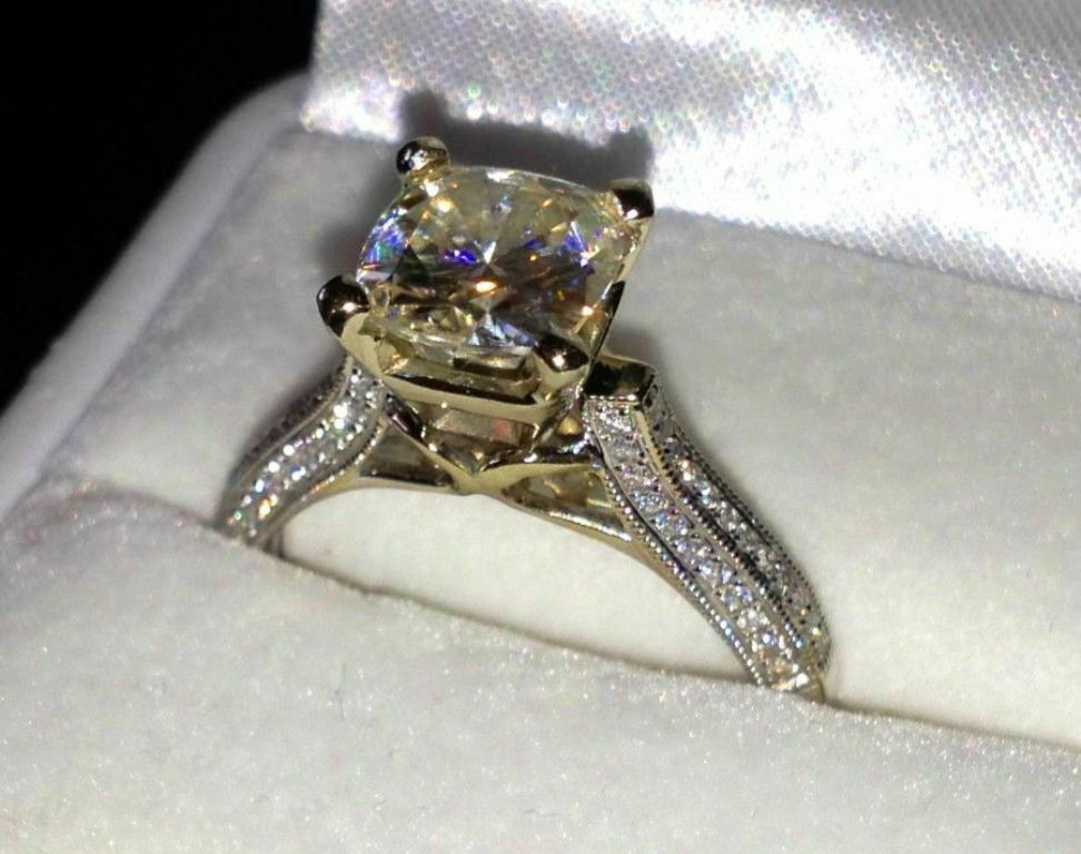 K White Gold Engagement Ring
