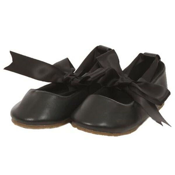 black ballerina shoes ballet flower ribbon tie