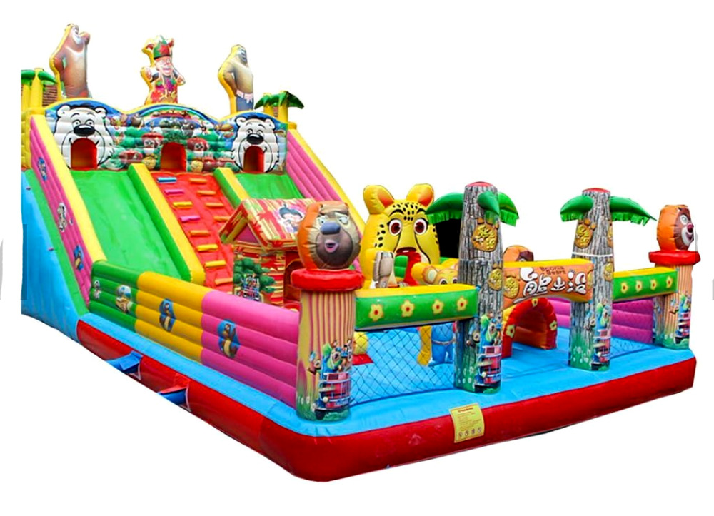 Inflatable Bounce Castle Water Slide Pool Commercial Bouncer Obstacle Course Ebay