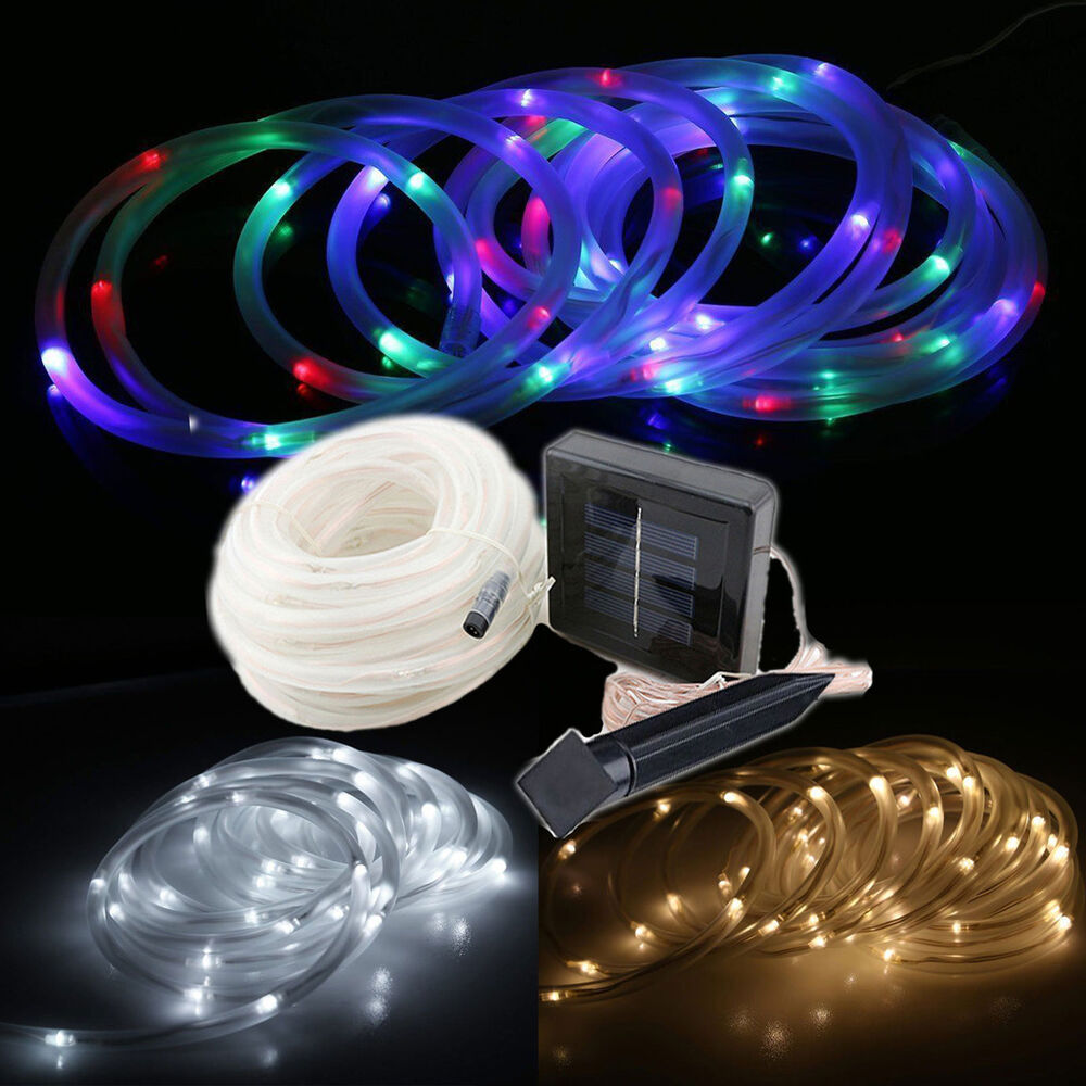 Led Tube String Lights : 23Ft 50LEDs Solar Tube Light LED Strip String Lamp For Outdoor Garden Xmas Party eBay