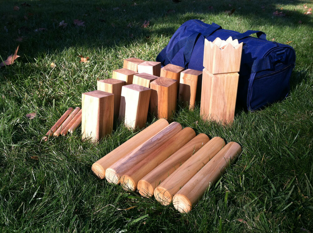 Kubb viking game beeswax finish edition ebay for Viking outdoor