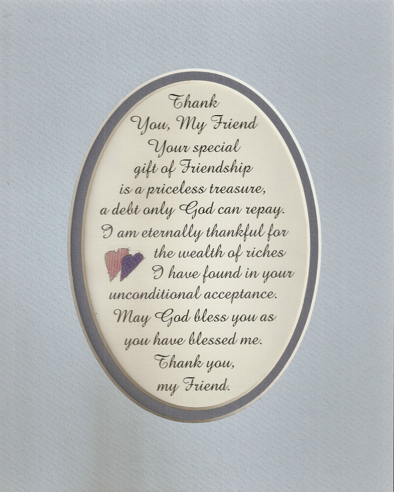 thank friend priceless treasure friendship god bless you me verses poems plaques ebay