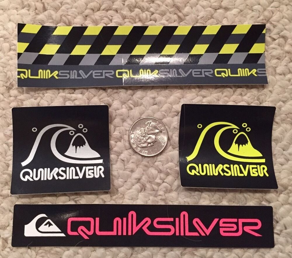 Quiksilver Authentic Sticker Collection Surf Skate Snow ...