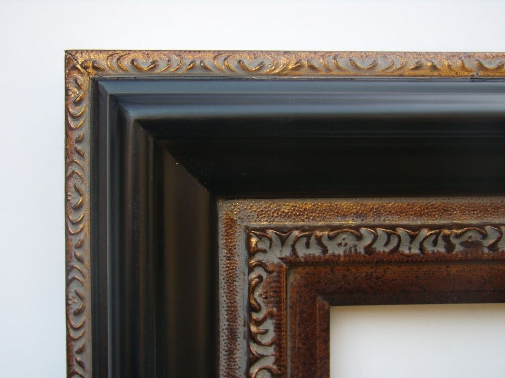 wide antique style black gold bronze wedding portrait photo picture frame 18x24 ebay. Black Bedroom Furniture Sets. Home Design Ideas