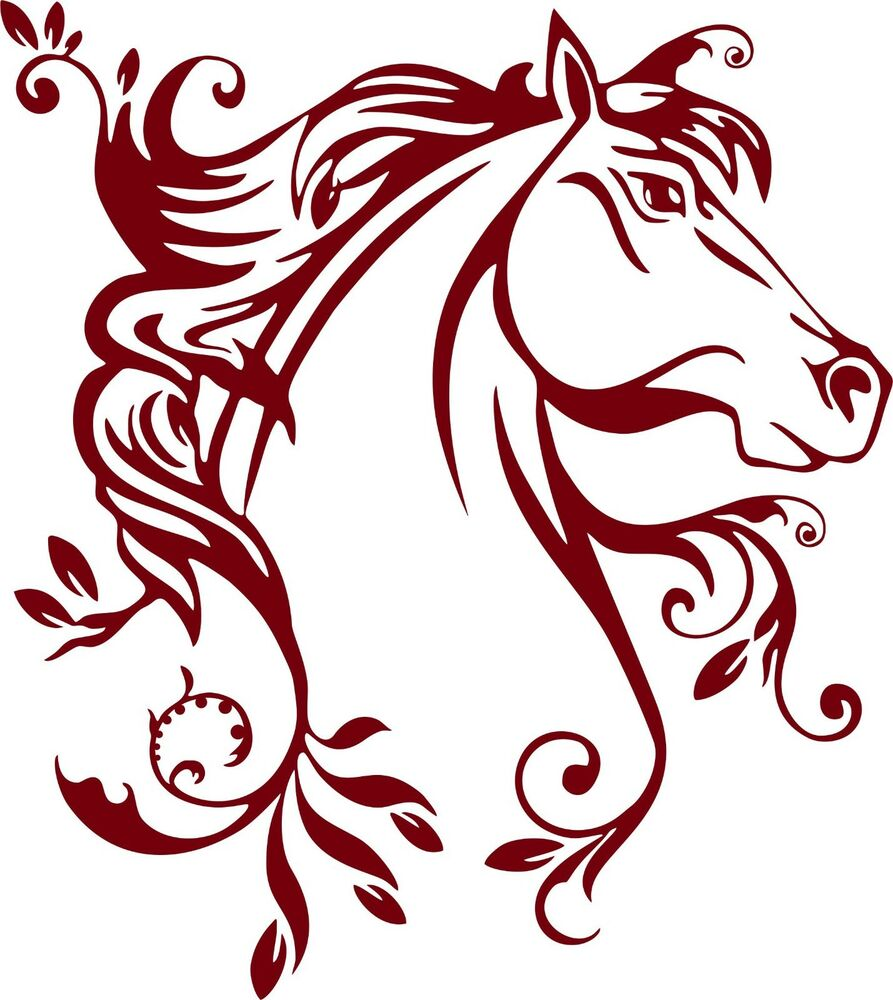 Horse Flowers Tribal Rodeo Cowgirl Western Car Truck