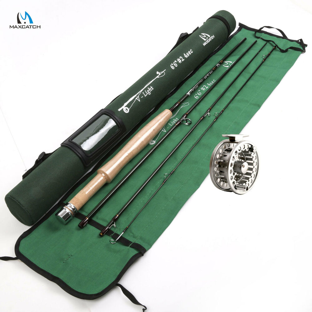 Fly rod and fishing fly reel combo 2wt 6 5ft ebay for Fly fishing combo kit