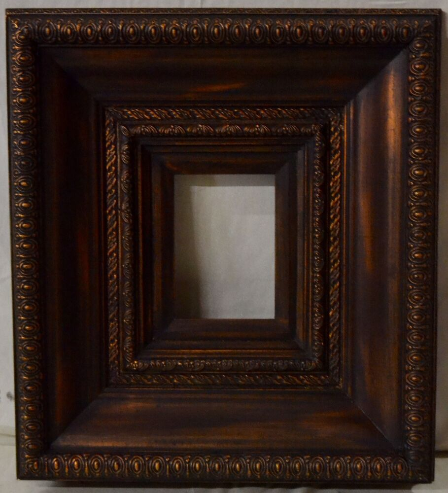 Antique Style Bronze Finish Decorative Wood Frame Photo