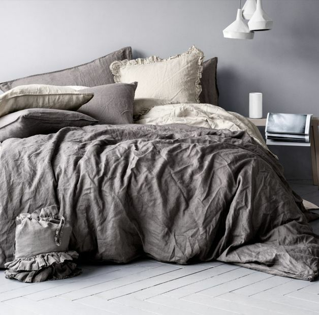 Duvet Cover Set 100 Natural Washed Linen Rustic French