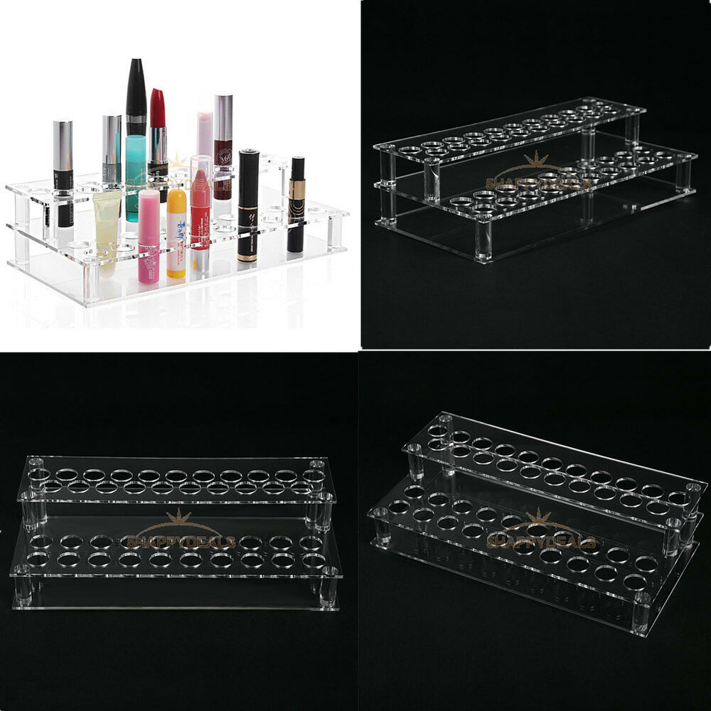 48pcs Lipsticks Clear Acrylic Holder Display Box Cosmetic
