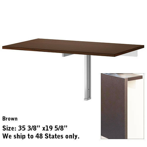 Dinning kitchen folded folding desk wall mounted drop leaf portable table ebay - Wall mounted kitchen table ikea ...