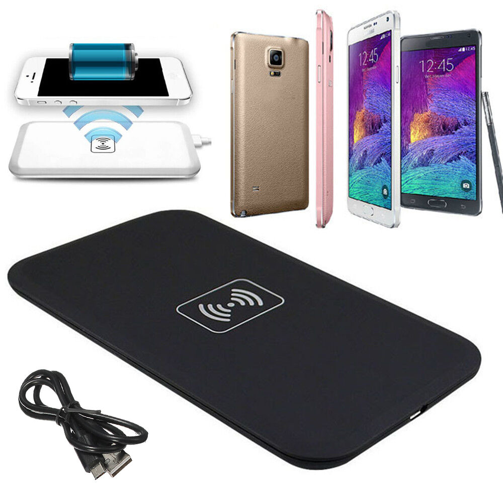 hot qi wireless charging charger pad for mobile iphone 5 6. Black Bedroom Furniture Sets. Home Design Ideas