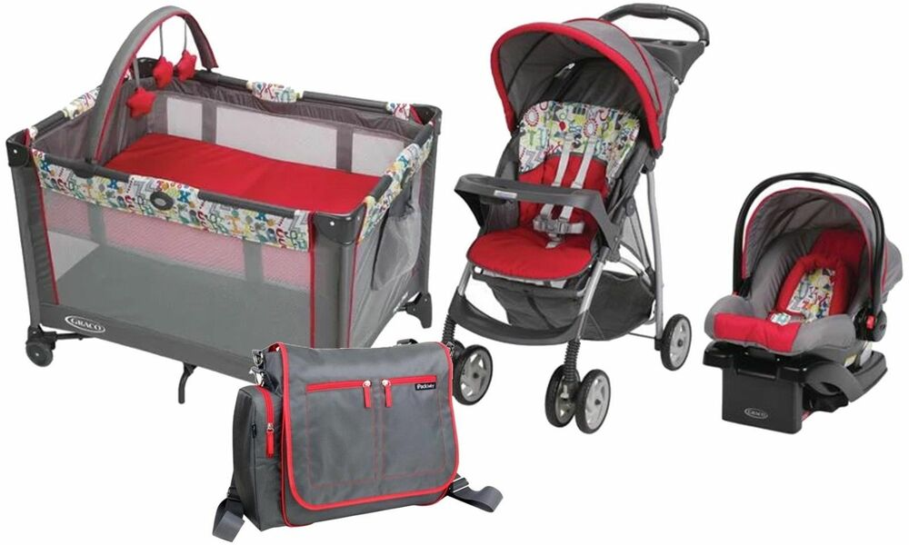 Baby Strollers And Car Seats: Baby Stroller Car Seat Travel System Portable Nursery Play