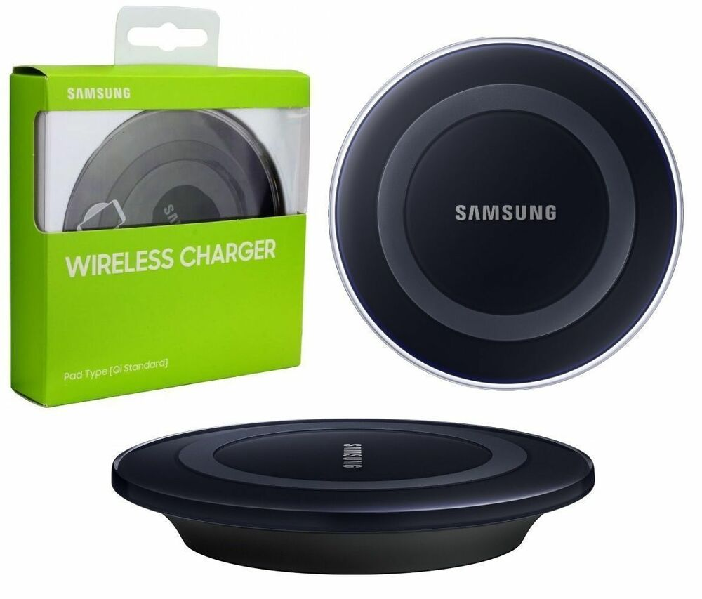 samsung genuine qi wireless charger charging pad for galaxy s6 s7 note5 lg g4 g5 ebay. Black Bedroom Furniture Sets. Home Design Ideas