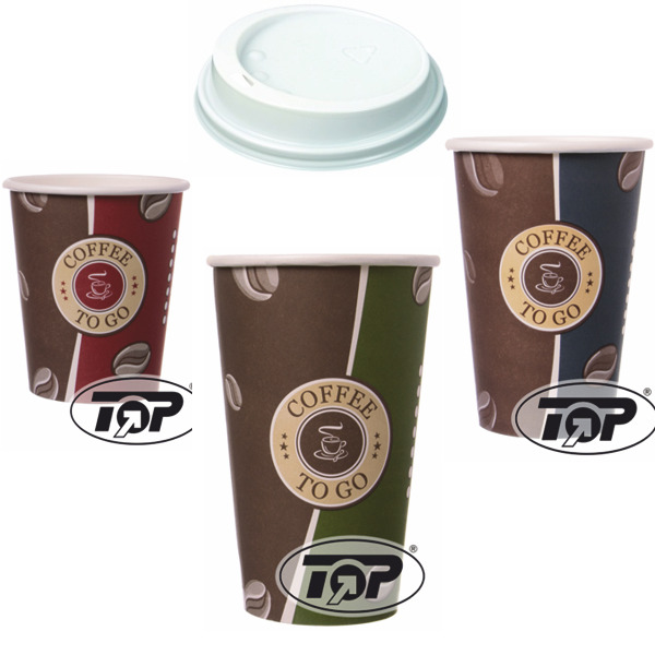 100 hartpapier coffee to go becher 0 2 0 3 0 4 pappbecher kaffeebecher deckel ebay. Black Bedroom Furniture Sets. Home Design Ideas