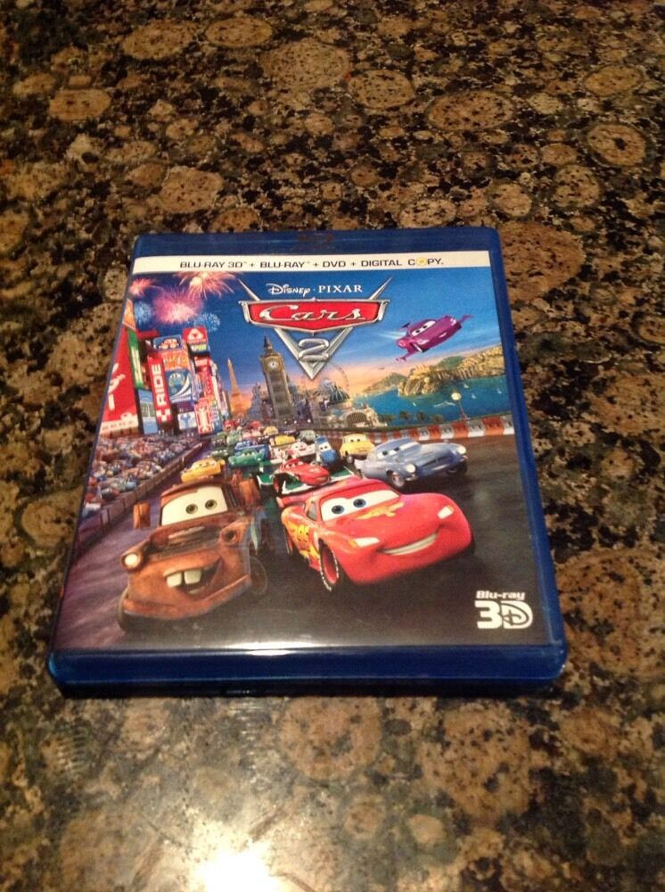 Disney Cars 2 3d Blu Ray Blu Ray Dvd Amp 5 Disc Set Authentic Us Release Ebay