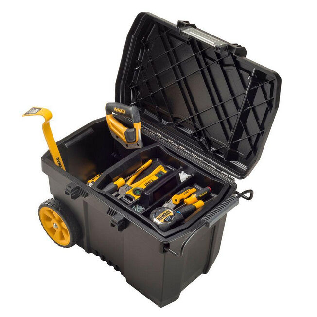 dewalt contractor pro mobile wheeled tool box chest storage portable organizer ebay. Black Bedroom Furniture Sets. Home Design Ideas