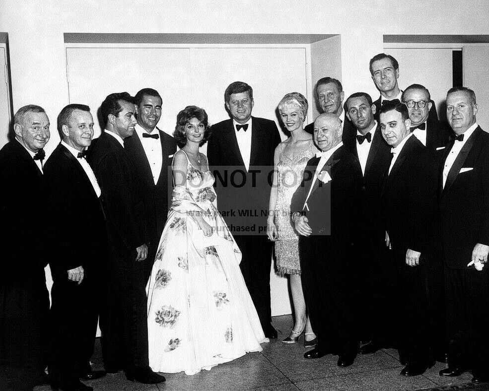 John f kennedy with group white house correspondents dinner 8x10