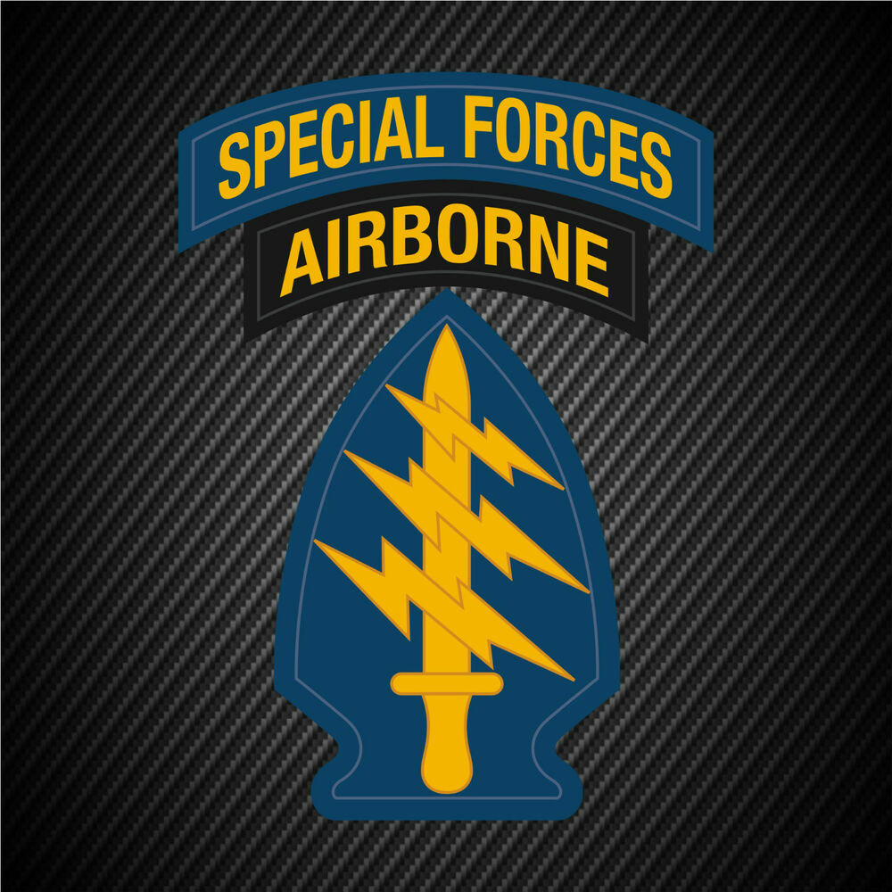 "1 - 8""x6"" US Army Airborne Special Forces Patch Vet Decal ..."