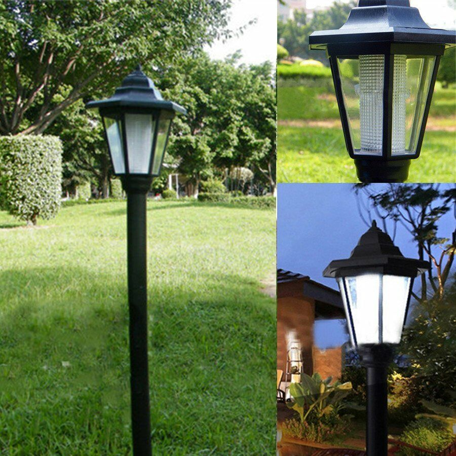 Solar Lights For Retaining Wall : Outdoor Solar Power LED Path Way Wall Landscape Mount Garden Fence Lamp Light eBay