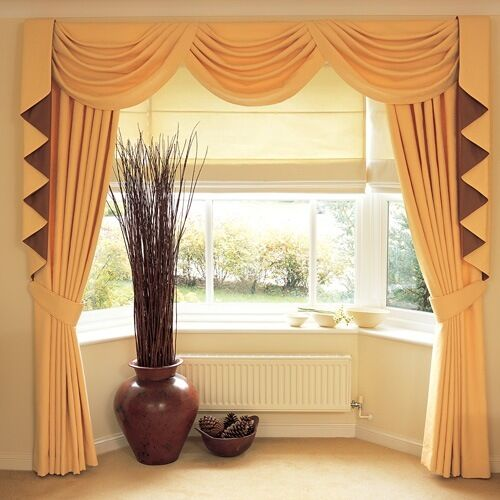"SWAGS & TAILS SETS,LONG TAILS + CURTAINS FITS 90"" To 105"" (229-267cm) X 89' Drop"