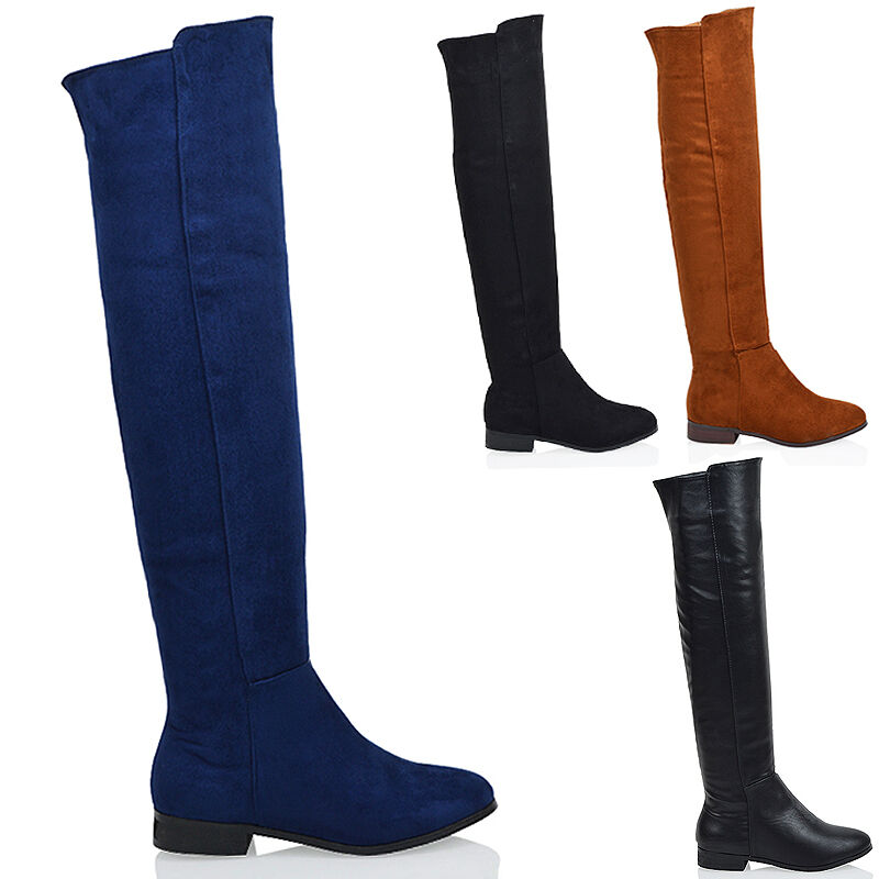 flat the knee high zip womens winter biker