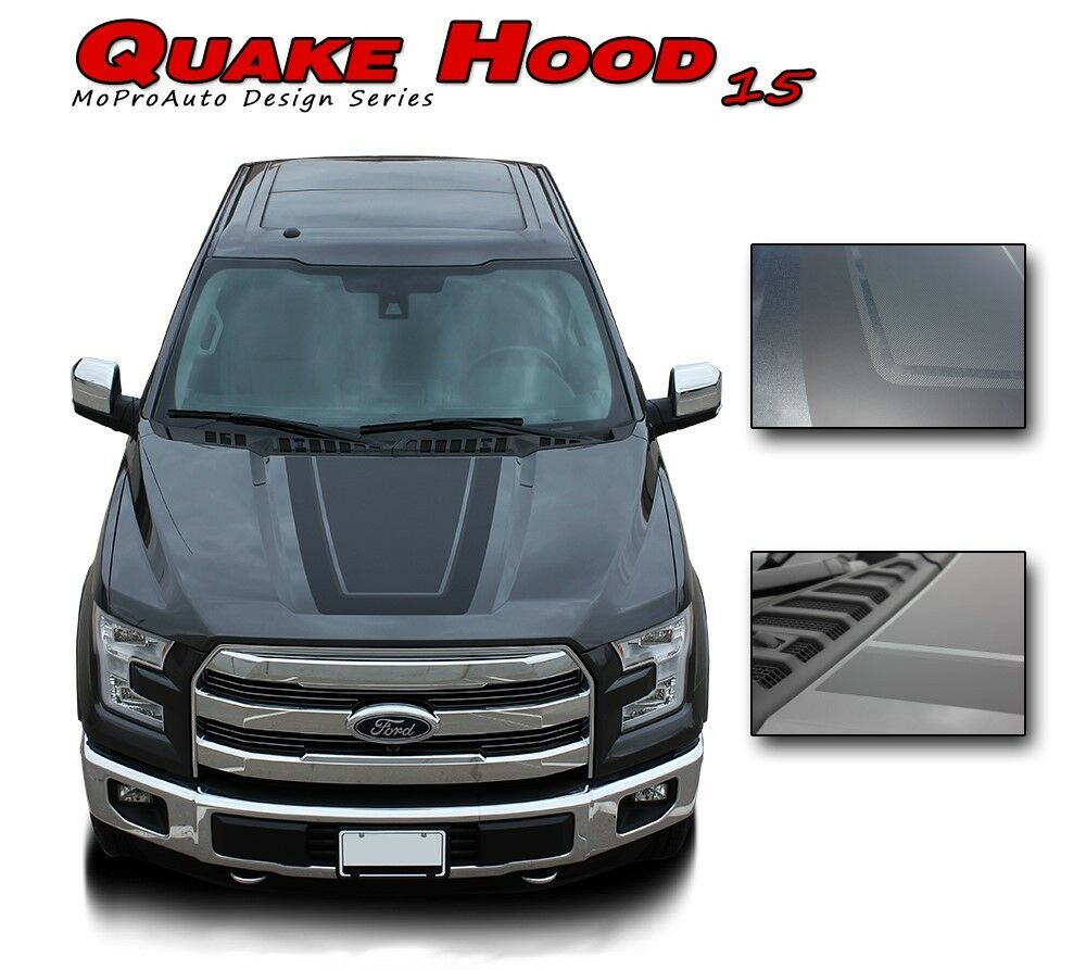 F 150 Tremor >> 2015-2019 Quake Hood Ford F-150 Tremor Style Decals ...