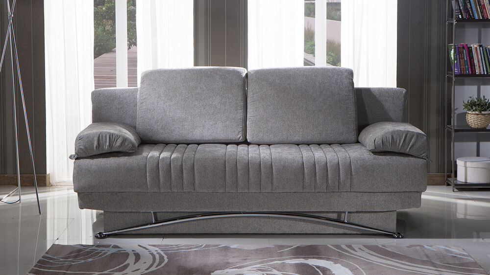 Sofa bed with storage underneath - Queen Size Convertible Sofa Bed With Storage In Valencia Gray Ebay