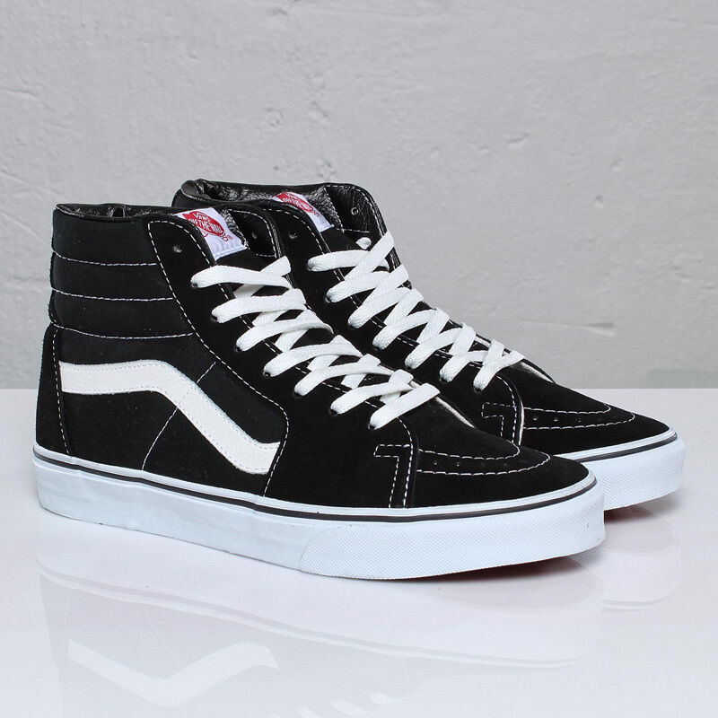vans sk8 hi black white classic skateboarding canvas suede mens womens shoes ebay. Black Bedroom Furniture Sets. Home Design Ideas