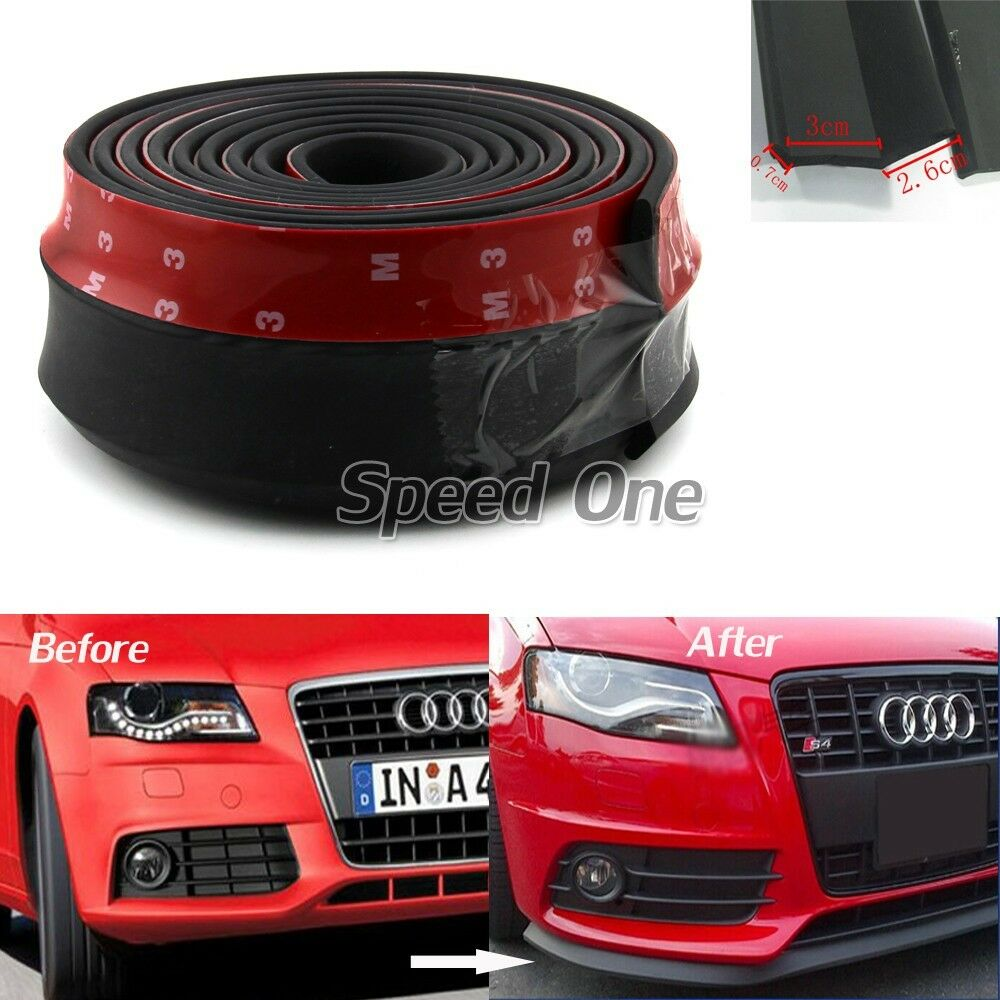front bumper lip splitter body spoiler valance chin for audi a3 a4 a6 a8 tt ebay. Black Bedroom Furniture Sets. Home Design Ideas