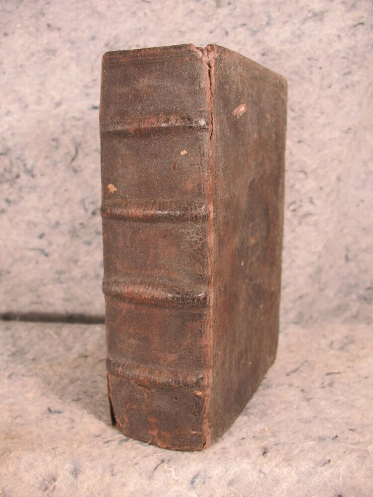 Rare antique leather book over 400 years old ! 1587 ...
