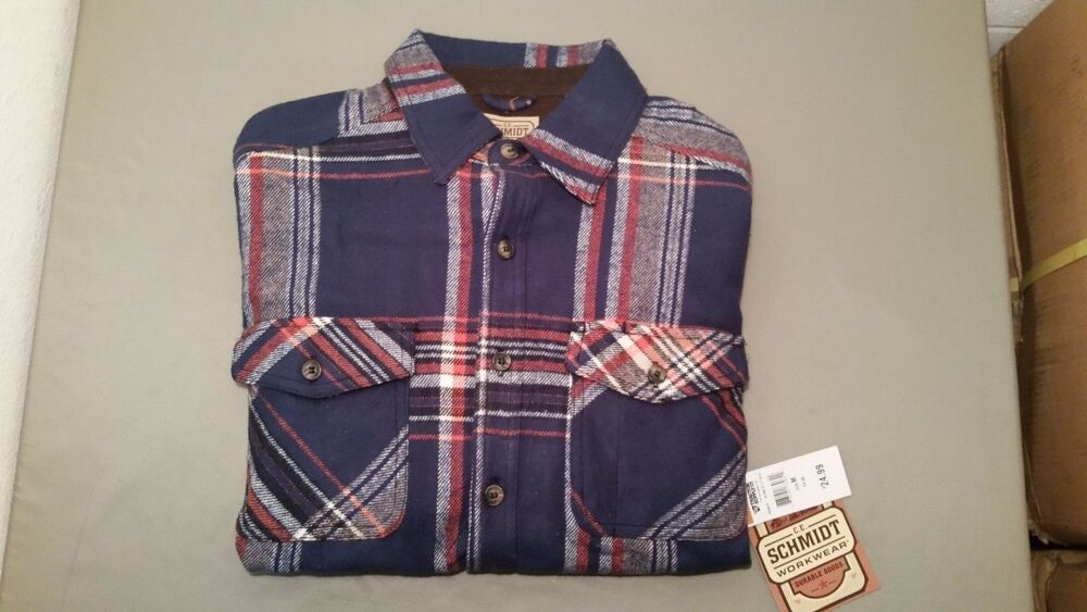 Mens New Heavy Flannel Shirt Made By Ce Schmidt Workwear