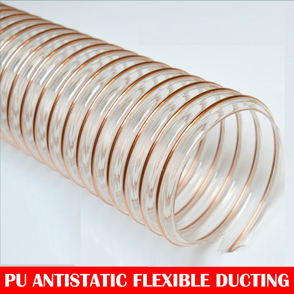 Ventilation Ducts Information : Pu flexible ducting hose ventilation woodworking fume