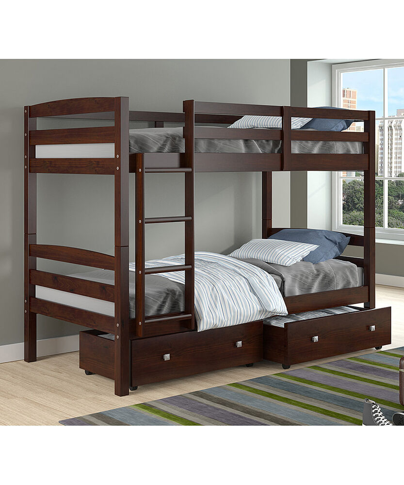 Cappuccino Bunk Beds For Girls Or Boys Ebay