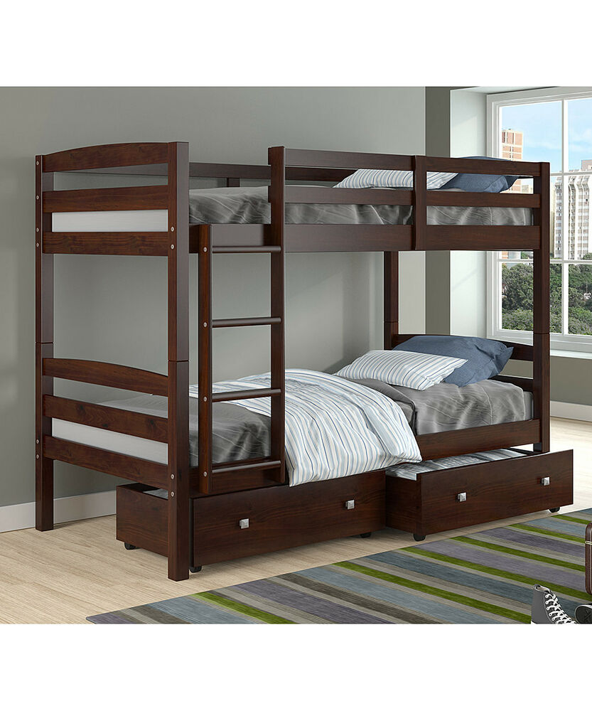 twin bed girls cappuccino bunk beds for or boys ebay 13633
