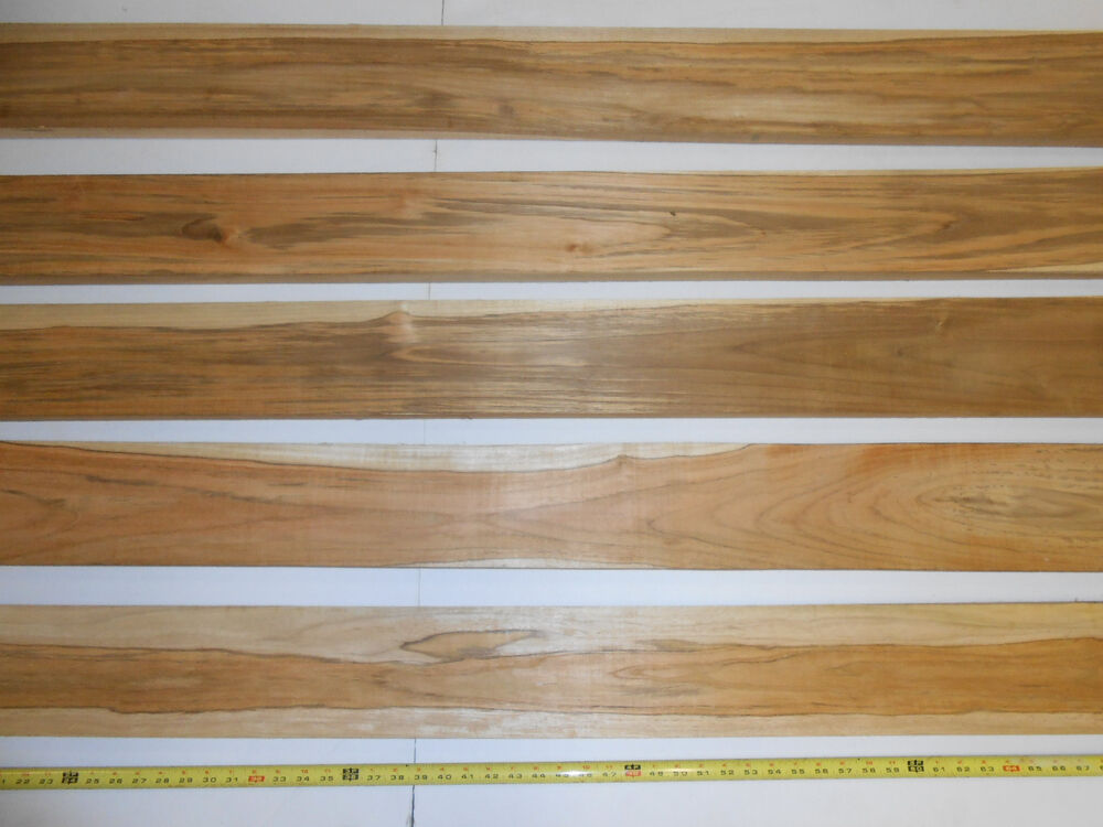 Square feet of inch thick planed teak wood