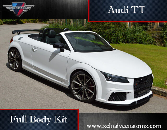 audi tt rs xclusive design full body kit for audi tt mk2 8j to mk3 convertible ebay. Black Bedroom Furniture Sets. Home Design Ideas