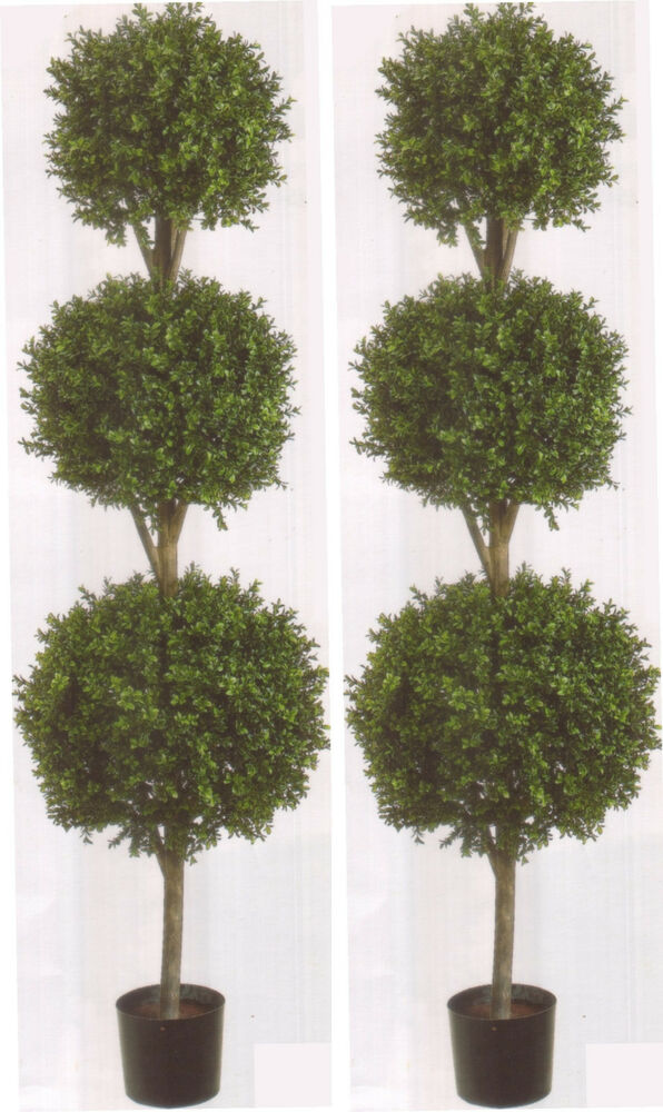 boxwood topiary trees 2 artificial 78 quot boxwood 3 bush outdoor uv topiary 1773