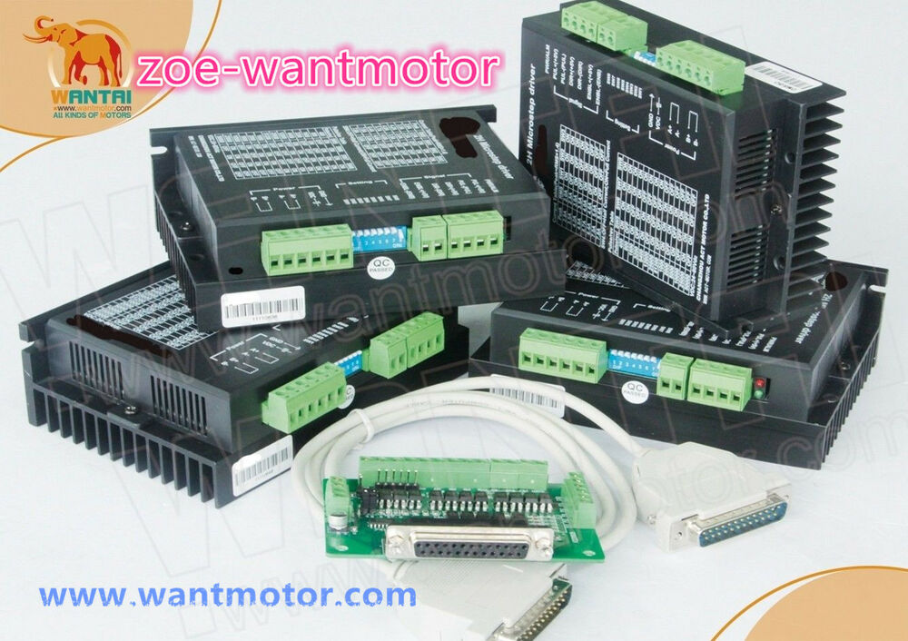 New Usa Ship Free 4axis Wantai Stepper Motor Driver