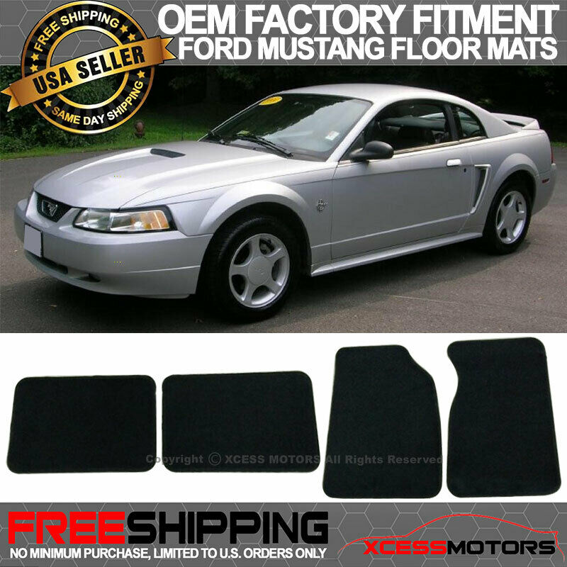 99 Ford Mustang: 99-04 Ford Mustang Factory Cutting Floor Mats Carpet Front