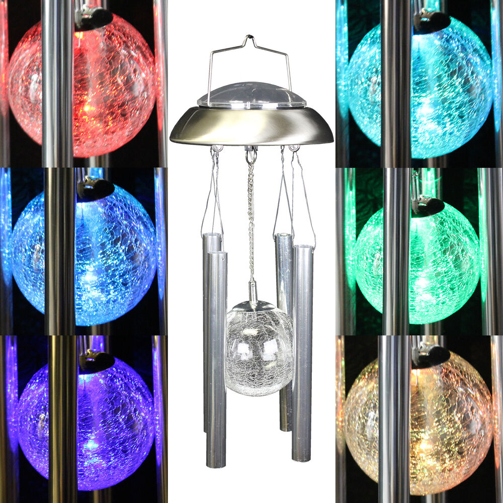 New Solar Powered Wind Chimes Color Changing Led Light